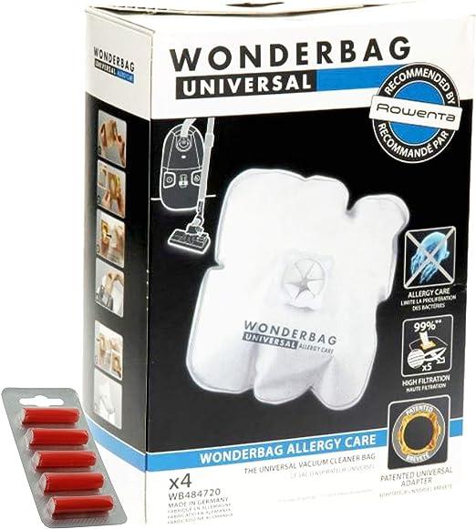 Wonderbag - Bolsas para aspiradora Rowenta (4 unidades + 5 ambientadores): Amazon.es: Hogar