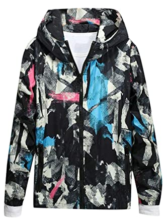 40035fd745892 VaeJY Mens Plus Size Camo Print Hooded Workout Sport Coat Casual Jacket  Light Blue XXXL