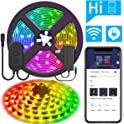 MINGER DreamColor 16.4ft Wireless Smart Phone Controlled LED Strip Lights