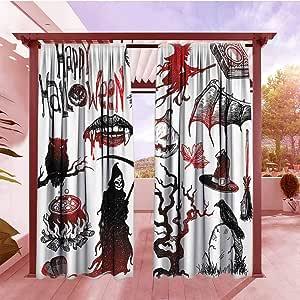 Cortinas oscurecedoras Grunge para decoración del hogar, diseño de calavera y flores, Día de los Muertos, celebración tradicional mexicana, arte simbólico, cortinas opacas para recámara, color turquesa y blanco: Amazon.es: Jardín