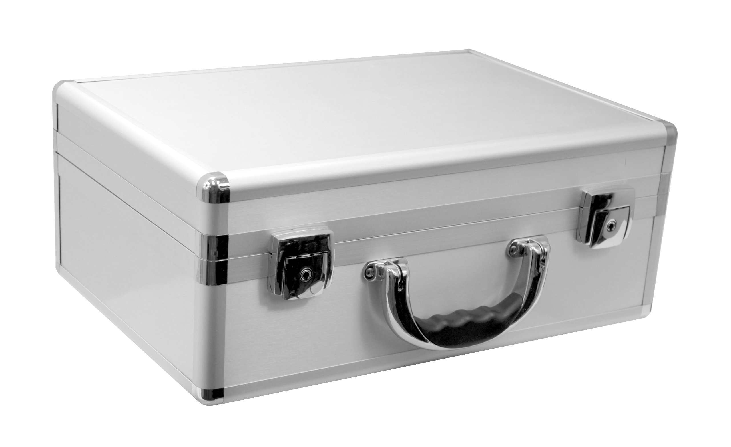 Cases By Source SV15106 Smooth Silver Aluminum Case with Foam, 15.125 x 10 x 5.75