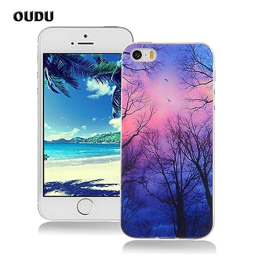 21 opinioni per OuDu Cover iPhone 5/5S Custodia TPU Silicone Cassa Gomma Soft Silicone Case