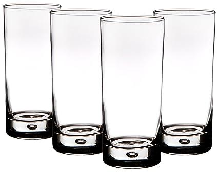 2f53fc776c9 Amazon.com  Home Essentials Red Series Bubble 17oz Highball Glass ...