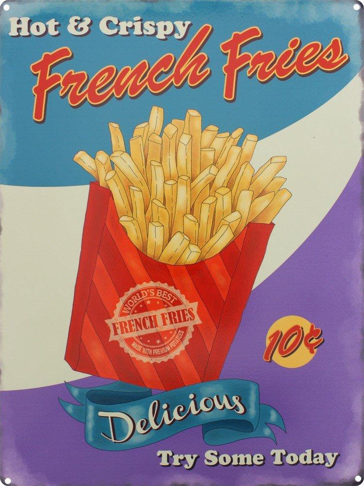 Hot &frites Crispy Plaque en métal 30 x 40 cm