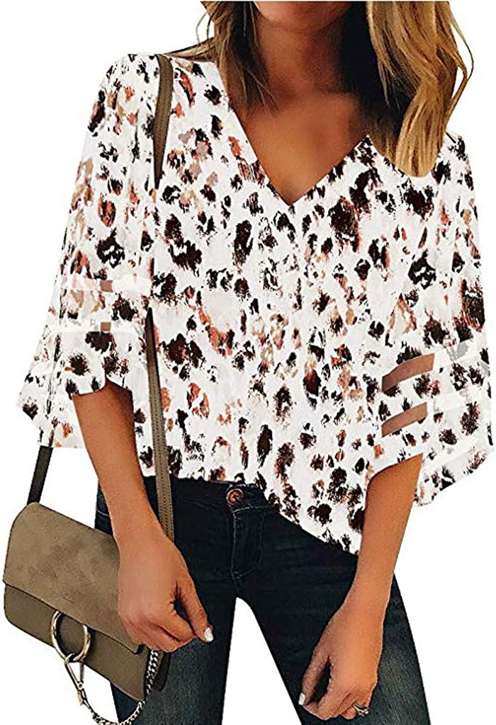 Longra - Blusa Elegante para Mujer, Camiseta a Rayas de Manga Larga para Verano, Tallas Grandes, Camisas largas de Manga Corta, Camiseta, Casual, de ...