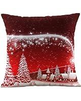 Hangood Divano Federa Cuscini Flanella Decorazioni per la Casa Albero di Natale 45cm x 45cm