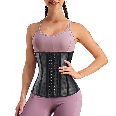 Women Body Shaper Latex Sauna Waist Trainer Cincher Sweat Belt Weight Loss Band