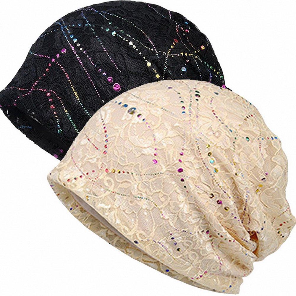 Cotton Slouchy Beanie Hat Hair Covers Soft Night Sleep Cap for Women