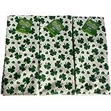 St Patrick's Day Shamrock Kitchen Bathroom Towels Set of Three (3)
