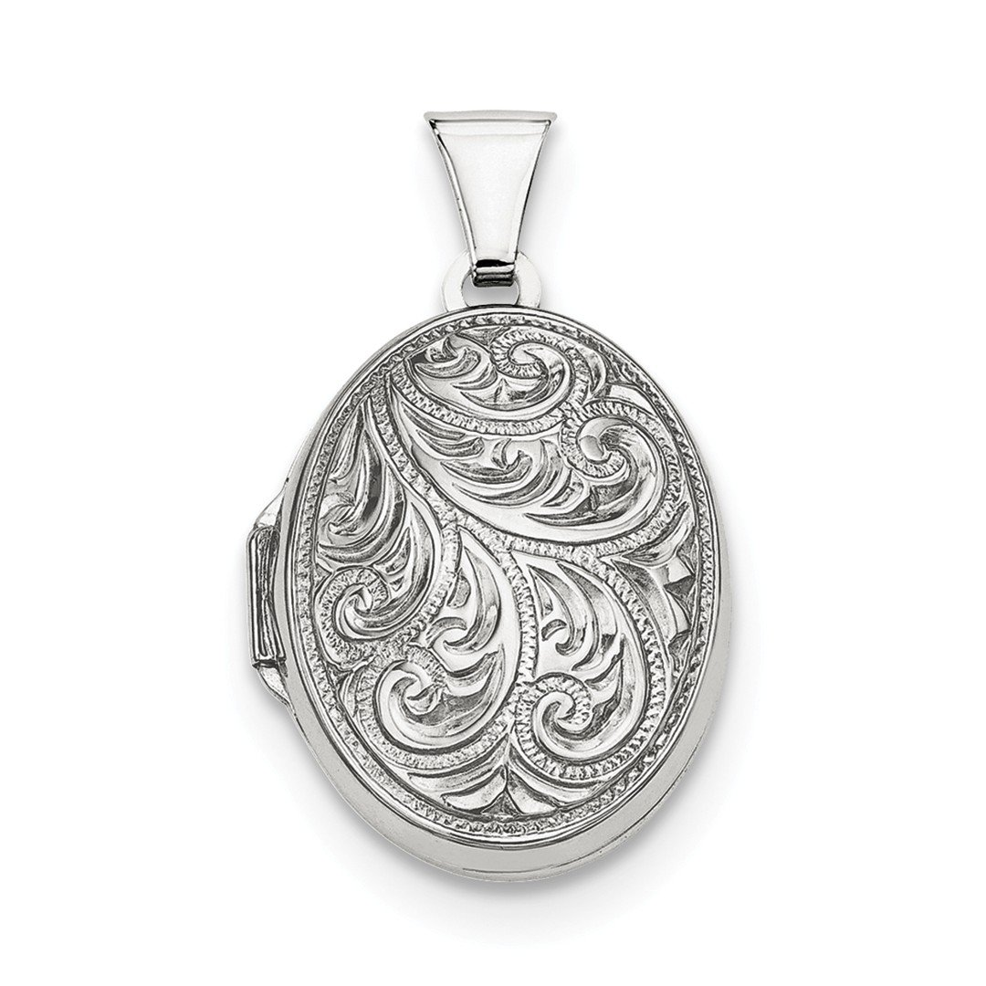 ICE CARATS 925 Sterling Silver Scroll Oval Photo Pendant Charm Locket Chain Necklace That Holds Pictures Fine Jewelry Ideal Gifts For Women Gift Set From Heart