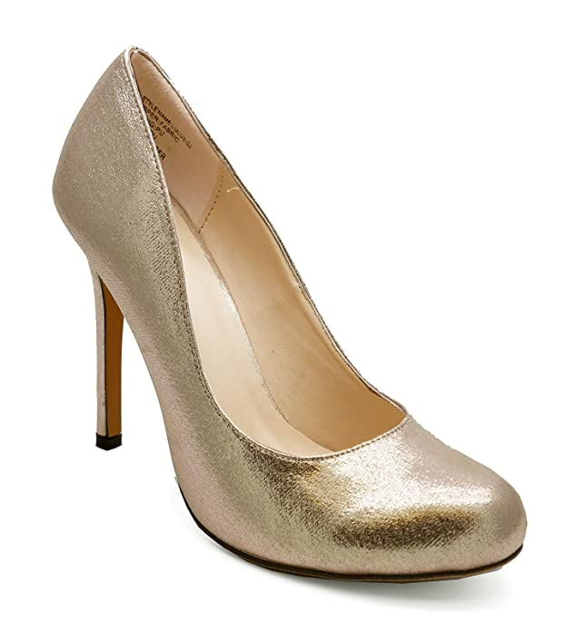 Ladies Gold Slip-On High Heel Elegant Wedding Prom Court Smart Shoes Sizes 3-8: Amazon.co.uk: Shoes & Bags