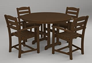 product image for POLYWOOD PWS100-1-TE La Casa Café 5-Pc. Dining Set, Teak
