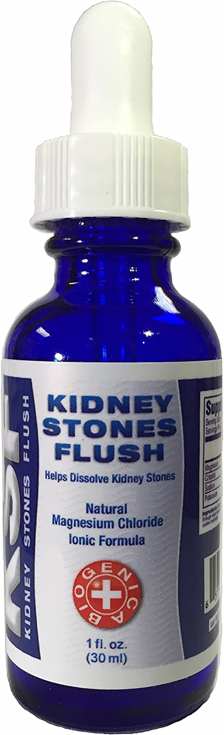 KIDNEY STONES DISSOLVER - FAST ACTING Liquid Ionic Magnesium Drops for immediate absorbtion to help rapidly dissolve kidney and gall stones.