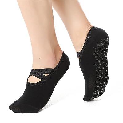 JOINFREE Womens Yoga Socks Ballet Grip Non Slip Non Skid Socks for Pilates Barre Yoga