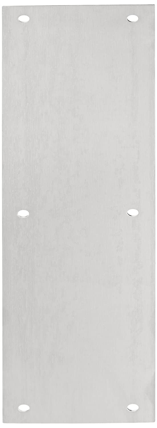 Satin Finish Four Beveled Edges Rockwood 70B.32D Stainless Steel Standard Push Plate 15 Height x 3-1//2 Width x 0.050 Thick
