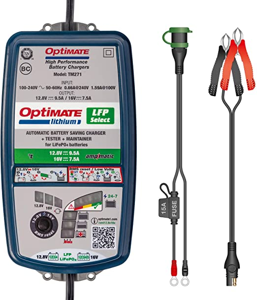Tecmate Optimate Lithium 4s 9 5a 5s 7 5a Tm270 10 Stufiges 12 8v 16v 9 5a Batterieladegerät Und Wartungsgerät Auto