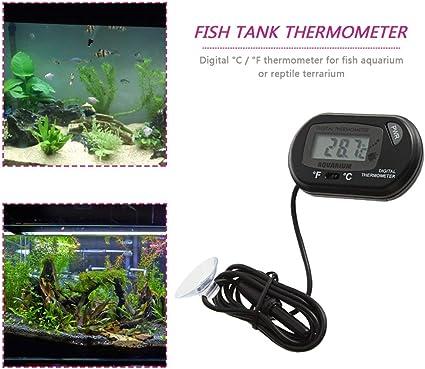 ZREAL Mini Digital LCD Thermometer Aquarium Fish Tank Temperature Meter Suction Cup