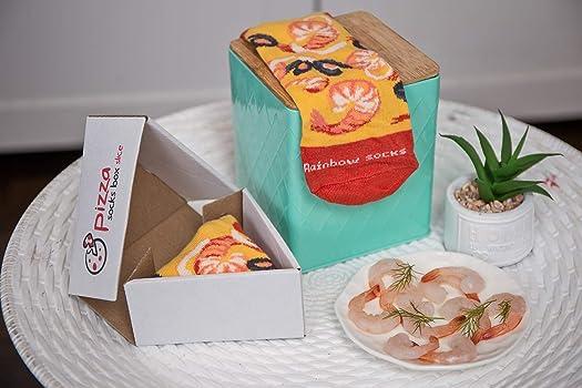 Pizza Socks Box Slice - Mariscos - Mujer Hombre - 1 par de Calcetines - Tamaño 36-40: Amazon.es: Ropa y accesorios