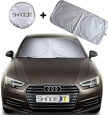 SUV Van,Truck- 210T Nylon Material- Heat and Sun Reflector EcoNour Premium Car Windshield Sunshade-Universal Fit for Car