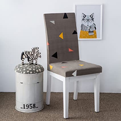 Prime Amazon Com Hysenm 2 Pieces Stretch Elastic Chair Cover Machost Co Dining Chair Design Ideas Machostcouk