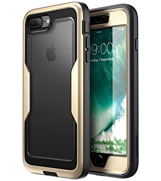 i-Blason Funda iPhone 7 / 8 Plus [Magma] 360 Grados Carcasa para Apple iPhone 8 Plus / iPhone 7 Plus Dorado
