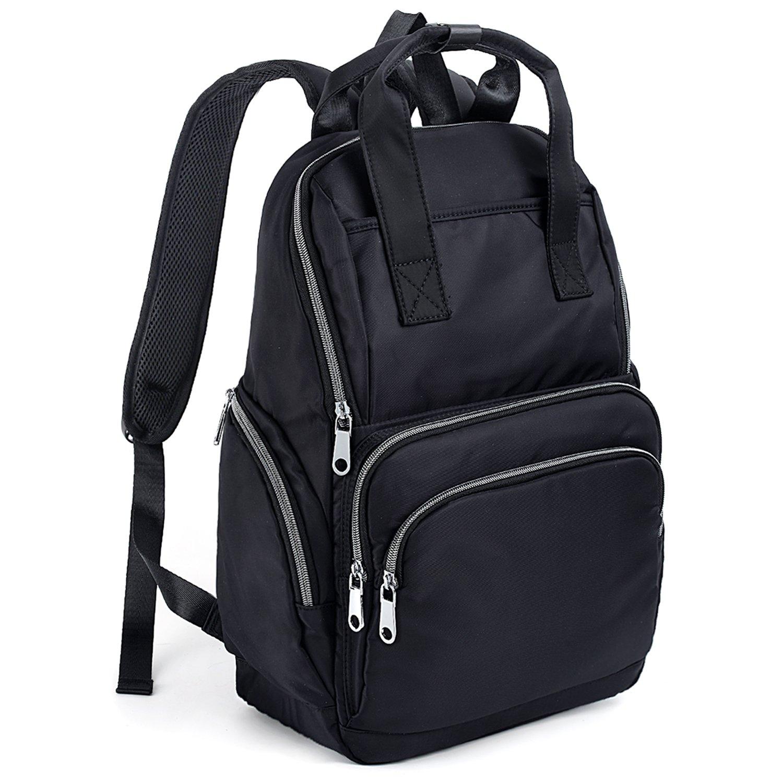 UTO Fashion Backpack Top Handles Waterproof Nylon Cloth Rucksack School College Bookbag Shoulder Purse CA 18000455-1ca