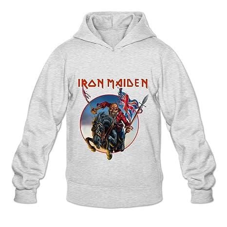Hombres de Iron Maiden Cool Sudaderas con capucha sudadera tamaño US Color Blanco