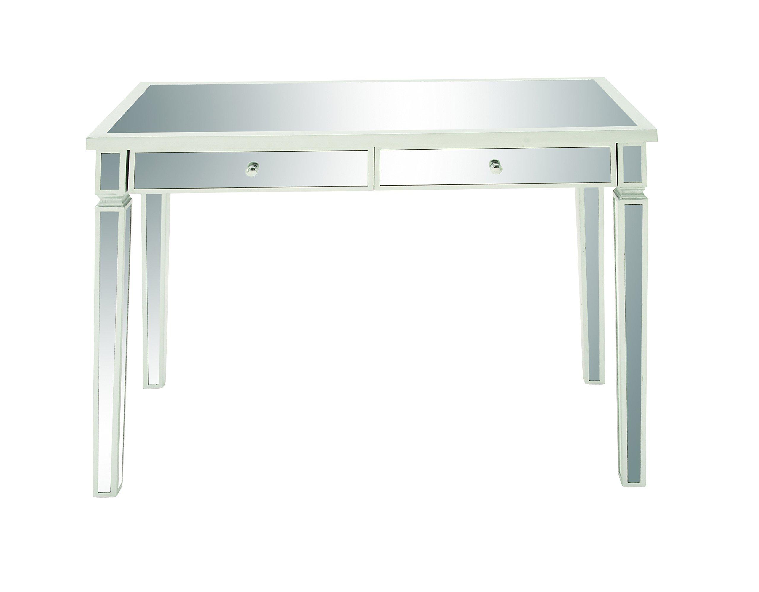 Deco 79 48677 Wood Vanity Desk Mirror, 42''W/20''D/30''H