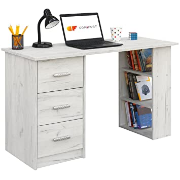COMIFORT Escritorios, Mesa de Oficina, Escritorio de Despacho, 120x49x72 (Kraft)