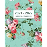 2021-2022 Monthly Planner: Two Year Planner Calendar Schedule Organizer - 24 Months   Floral Cover