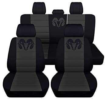 Miraculous 40 20 40 Front And Rear Seat Covers For 2013 To 2018 Dodge Ram 22 Color Options Rear 40 60 No Armrest Black Silver Andrewgaddart Wooden Chair Designs For Living Room Andrewgaddartcom