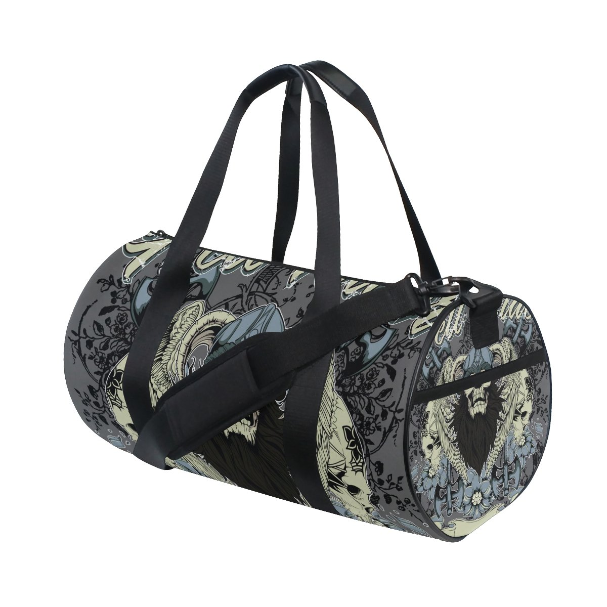 Gothic Punk Skull Travel Duffel Shoulder Bag, Sports Gym Fitness Bags