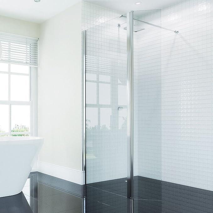 Coral 8 mm Wet Room Panel de ducha de cristal 1200: Amazon.es: Hogar