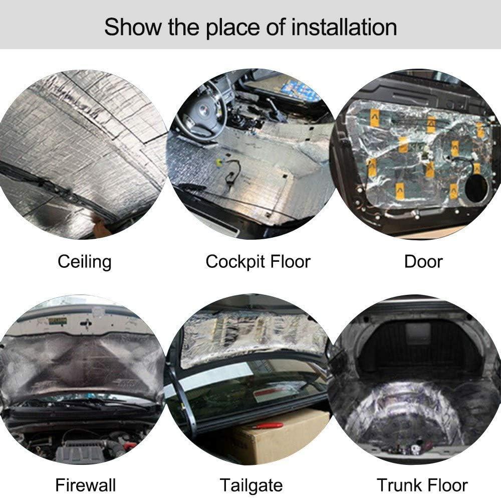 WE-WIN Sound Deadening Mat Car Firewall Sound Deadener Heat Shield Isolation Audio Noise Insulator Deadening Pad 6mm
