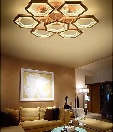 JINER-Caliente de 84W LED rosa oro acrílico elegante techo ...