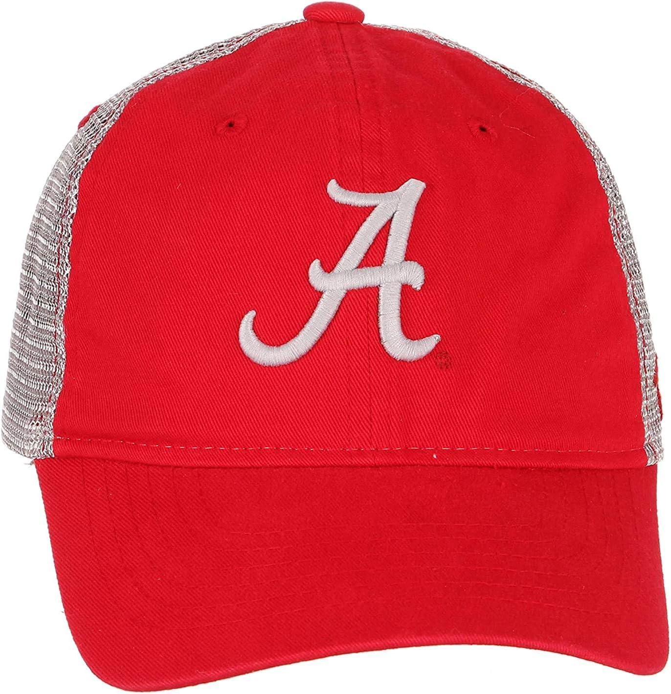 Campus Hats University of Alabama Crimson Tide Top Red Wash Cotton Nimbus Adult Mens//Womens//Youth Adjustable Baseball Mesh Trucker Hat//Cap
