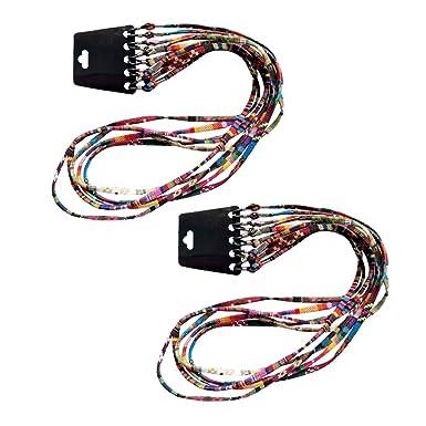 Prettyia 10x Correa para Gafas de Sol Lentes Cuerda de Algodón Estilo Étnico - Eyeglasses String Lanyard Holder