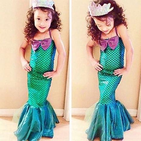 Disfraz de princesa de sirena para niñas (verde) as picture show ...