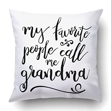 Amazon.com: Emvency Throw Pillow Covers My Favorite People ...