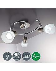 Lampada da soffitto a LED con 3 luci orientabili, forma a spirale, per soggiorno o camera da letto, incl. 3 lampadine 5,5 W E14 230 V IP20