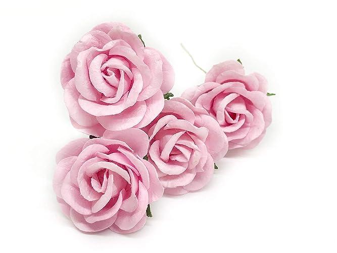Amazon 15 Light Pink Mulberry Paper Flowers Pink Wedding Diy
