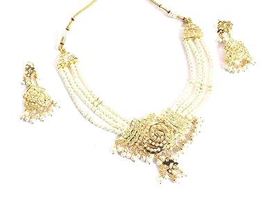 Amazoncom Glamorous Collection Jadau Bridal Necklace Choker