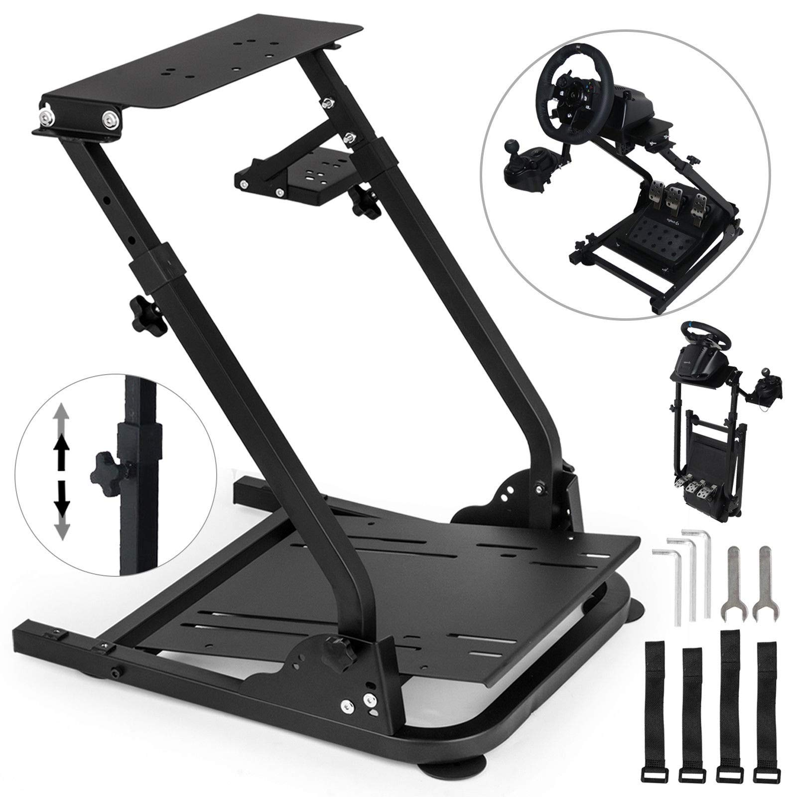 VEVOR G920 Racing Steering Wheel Stand Pro Shifter Mount Logitech G27/G25, G29 Gaming Wheel Stand Thrustmaster,Wheel Pedals NOT Included Racing Wheel Stand by VEVOR