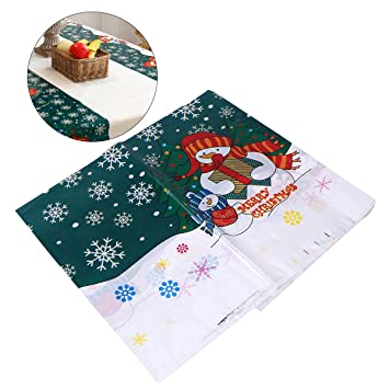 Fabulous Bestomz Christmas Table Cloth Rectangular Disposable Pvc Interior Design Ideas Gentotryabchikinfo