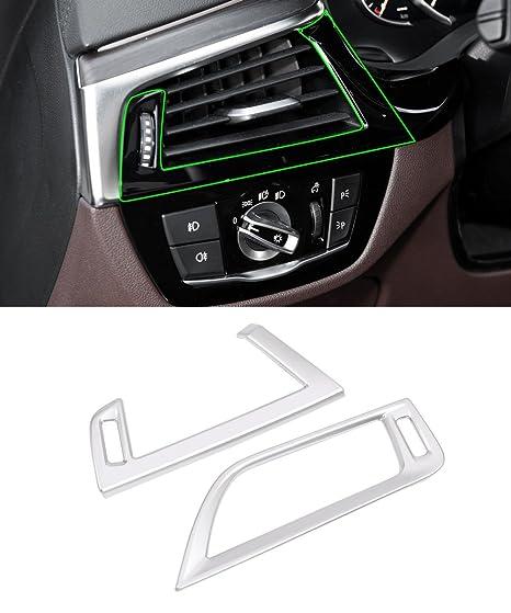 Marco de ventilación lateral de ABS cromado con molduras interiores