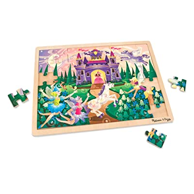Melissa & Doug 48pc Wooden Jigsaw Puzzle - Fairy Fantasy: Melissa & Doug: Toys & Games
