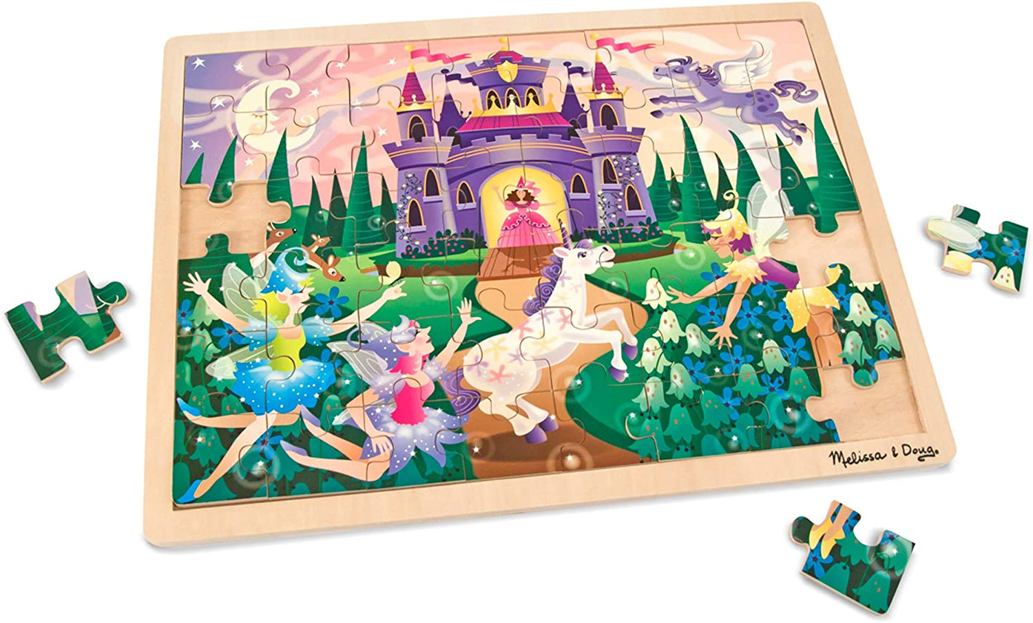 Melissa & Doug 48pc Wooden Jigsaw Puzzle - Fairy Fantasy