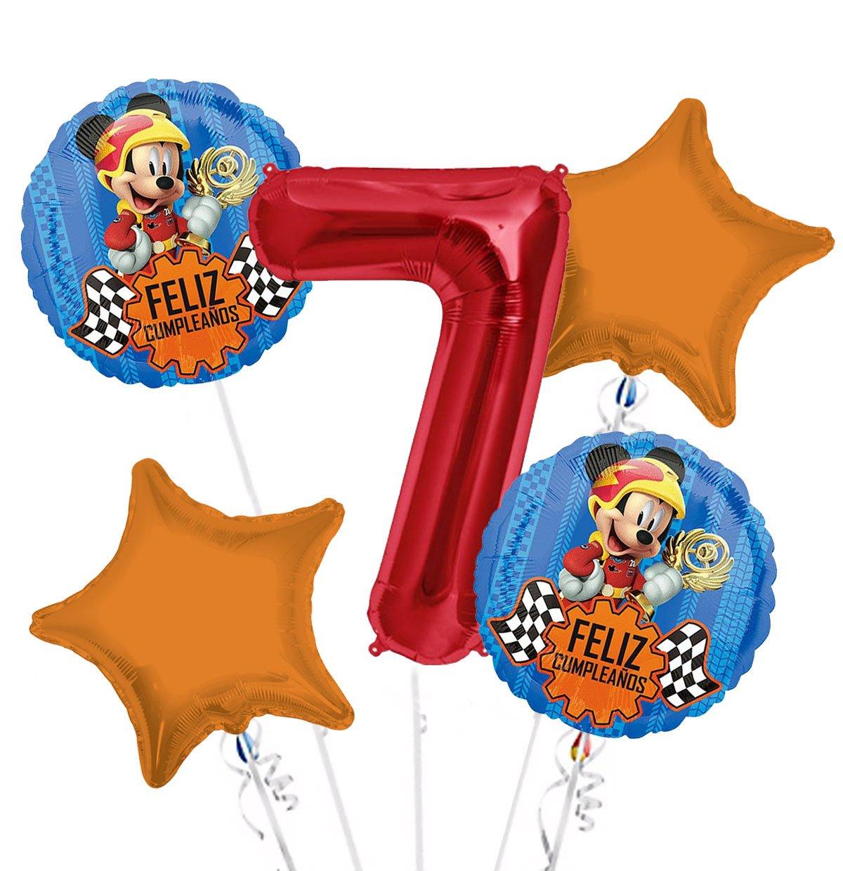 Amazon.com: Mickey Mouse Feliz Cumpleanos Balloon Bouquet ...