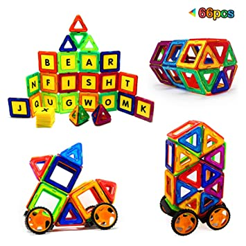 Magtimes Magnetic Construction Toys Building Blocks Educational With 40 PCS Set Stacking