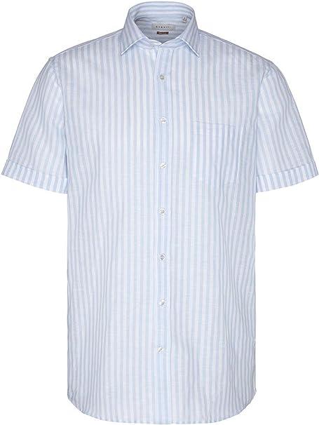 Bugatti – Camisa de manga corta de lino para hombre con ...